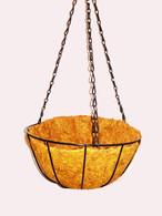 "12""D Hanging basket Planter w/Coco liner"
