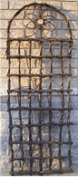 "Black twig trellis w/flower design 24"" x 5""H (min 1)"