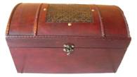 """Rectangular wood box with metal design 14""""x8""""x8""""H (min.1, 8/crtn)"""
