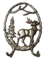 "Cast Iron Elk hook 8""x1.5""x12""H (min.4)"