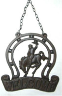"Cast Iron Horse with WELCOME 20""x16""H (min.4)"