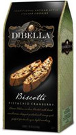 Dibella Biscotti (six individually packed biscotties) 187 gr., 10/cs, Pistachiop Cranberry