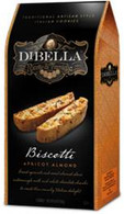 Dibella Biscotti (six individually packed biscotties) 187 gr., 10/cs, Apricot Almond