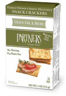 Partners Olive oil & herb crackers 114 gr., 6/cs