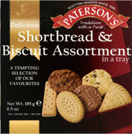 Paterson Shortbread biscuit assortment 185 gr., 14/cs