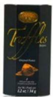 Chocolat Classique Belgian chocolate truffles black hexagonal box 34 gr., 24/cs.,