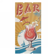 "Cocktail BAR wall plaque 11.5""X23""H"