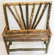 "Barkwood planter bench 27""x11.5""x33""H"