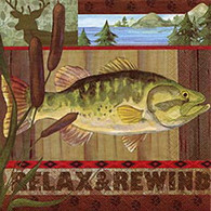 RELAX & REWIND lunch napkins - fish