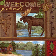 WELCOME lunch napkins - moose