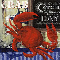 CATCH OF THE DAY lunch napkins - crab