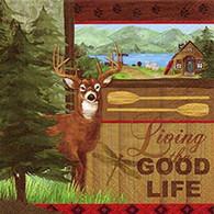 "GOOD LIFE lunch napkins - deer 6.5""X6.5"""