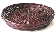 "16"" round stained willow tray"