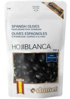 Dumet Hojiblanca Black Spanish Olives 150 gr., 10/cs