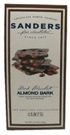Sanders Chocolate 106 gr.,Dark Almond Bark 12/cs