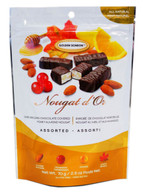 Golden Bonbon Nougat d'Or Belgian chocolate covered honey almond nougat - Assorted 70 g.r., 24/cs