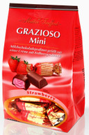 Maitre Truffout Grazioso chocolate bags (individually packaged mini bars) - Strawberry 108 gr., 14/cs