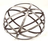 "Round metal decorative ball 11""D"