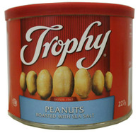 Trophy peanuts roasted with sea salt 227 gr.,12/cs