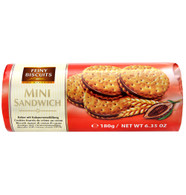 Feiny mini sandwich cookies - chocolate 180 gr., 30/cs