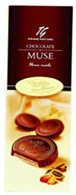 Tago chocolate MUSE - wafers with peanut cocoa cream in milk chocolate 120 gr., 24/cs