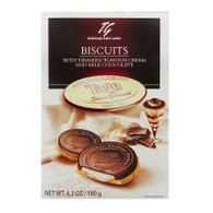 Tago Milk chocolate biscuits with Tiramisu flavour cream 180 gr., 10/cs