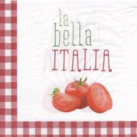 """Lunch napkins - La Bella Italia 6.5""""x6.5"""""""