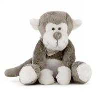 """Brown/white monkey plush 12""""H"""