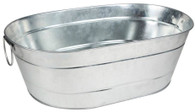 """Galvanized oval bucket with handles 22.5""""x13""""x7""""H"""