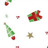 "DECK THE HALLS Printed Cellophane roll 40""x100'"