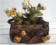 "Polyresin purse planter 9.5""x6""x6""H (min.1,8/crtn) (5% off on case size)"
