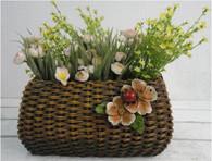CRL370P ƒ?? Polyresin purse planter with strap (min 1, 4/crtn)  (5% off on case size)