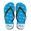 Personalized Joy and Chaos Flip Flops