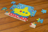 Personalized Lil Yellow Sub Puzzle Blue
