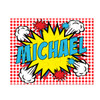 Personalized Pop Art Puzzle Red