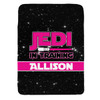 Personalized Jedi In Training Blanket Pink New