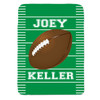 Personalized Naptime Defense Football Blanket
