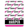 Personalized Name Game Guitar Blanket Pink New