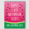 Watermelon Seeds Pregnancy Announcement Sign New