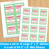 Personalized Classic Christmas Stickers New