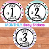 Personalized Baby Month Photo Stickers