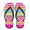Personalized Electric Chevron Flip Flops