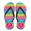 Personalized Digi Rainbow Heart Flip Flops