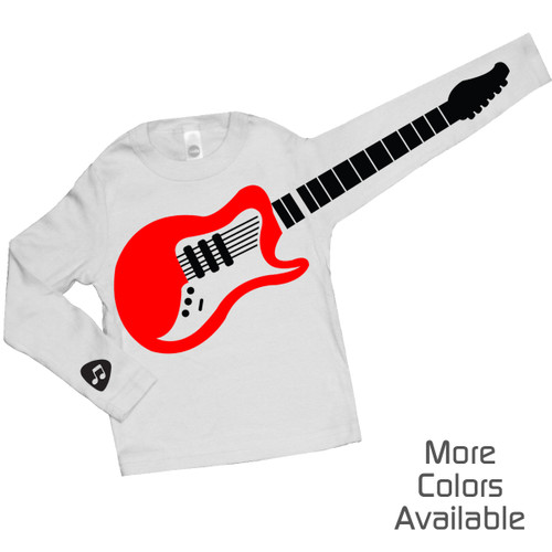 Personalized Guitar Playing Kid T-Shirt