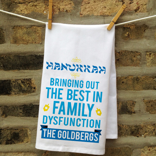 Personalized Family (Dys)Functions Kitchen Towel: Hanukkah