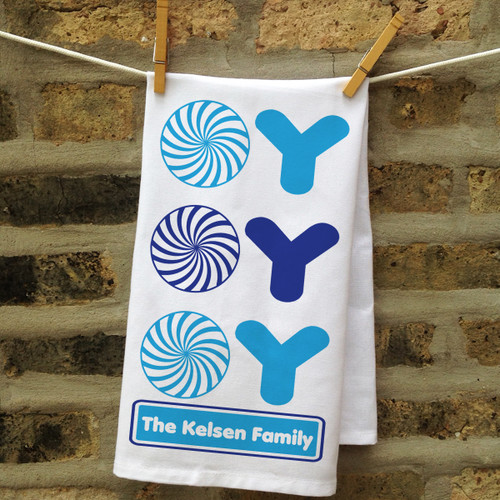 Personalized Oy Oy Oy Kitchen Towel