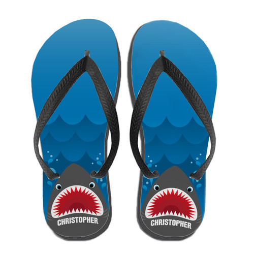 Personalized Shark Bait Flip Flops