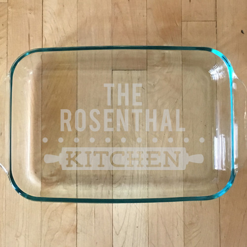Personalized Home Cooking Glass Baking Dish