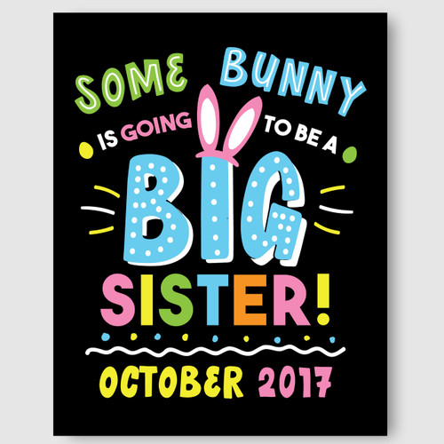 Printable Big Sister Announcement Sign for Easter
