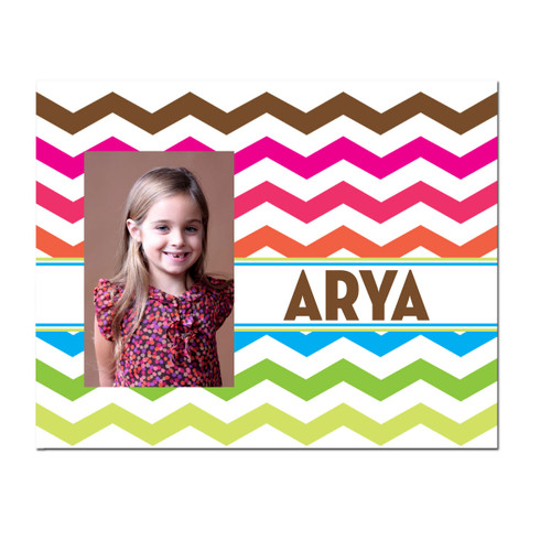 Personalized Electric Chevron Picture Frame
